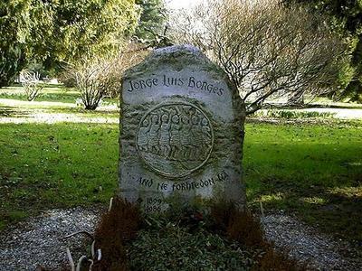 Tombe de Jorge Luis Borges au cimetière de Plainpalais