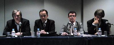 Les docteurs Pierre ANDRE, Philippe BLANCHEMAISON, Claude DALLE, Patrick TREVIDIC. Photo (c) CAP 3D