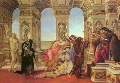 Botticelli: La Calomnie d'Apelle