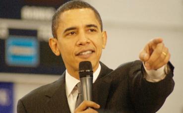 Barack Obama, 44e président des Etats-Unis, en fonction du 20 janvier 2009 au 20 janvier 2017. Photo (c) Marc Nozell.