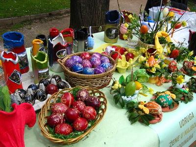 Oeufs de Pâques en Croatie. Image du domaine public