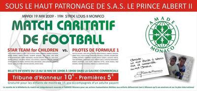 World Stars Football Match 2009: L'équipe du Prince Albert II contre les pilotes de F1, au profit de l'AMADE Monaco