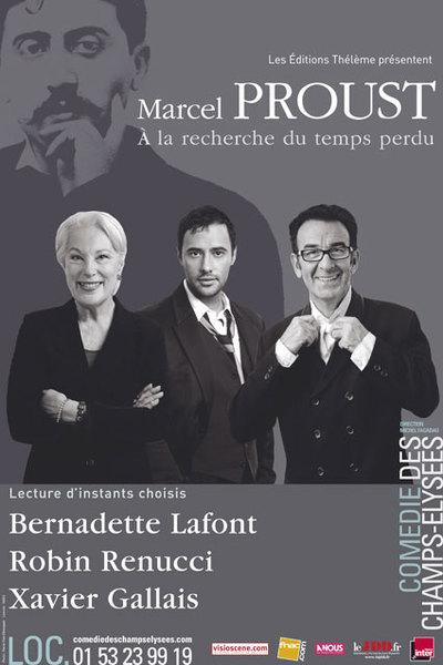 Prolongation des lectures d'A la Recherche du Temps Perdu de Marcel Proust à la Comédie des Champs Elysées