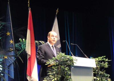 Le Prince Albert II de Monaco lors de la séance inaugurale. Photo (c) CAP 3D