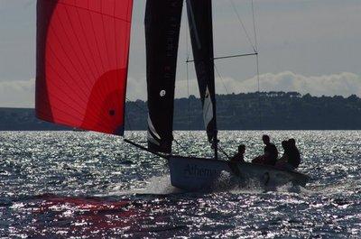 Victoire d'Erwan Tabarly au Grand Prix de l'Ecole Navale