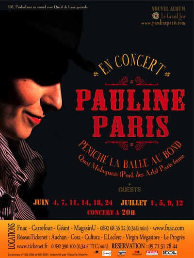 Pauline Paris en concert en juin sur la Péniche La Balle au Bond