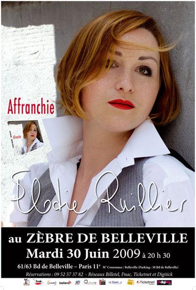 Elodie Ruillier à découvrir sur scène au Zèbre de Belleville
