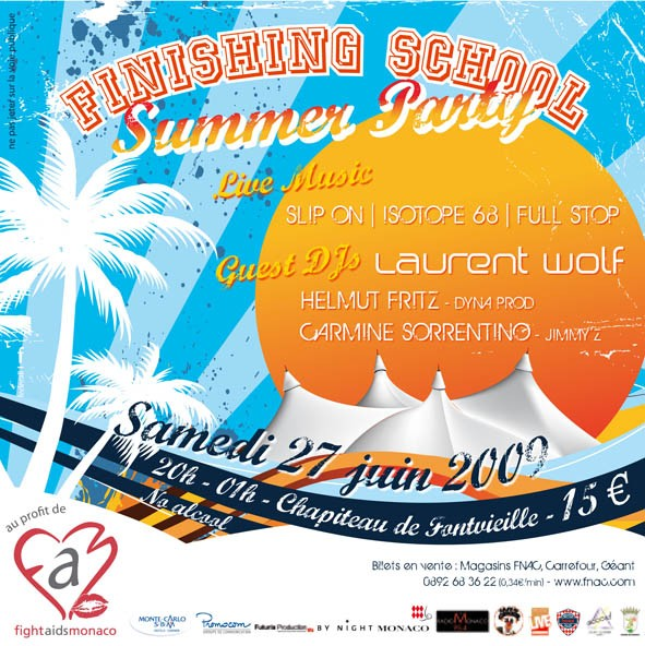 Soirée Finishing School Summer Party, au profit de Fight Aids Monaco
