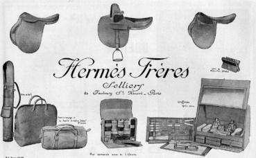 Publicité de 1923 du maroquinier Hermès. Image du domaine public.
