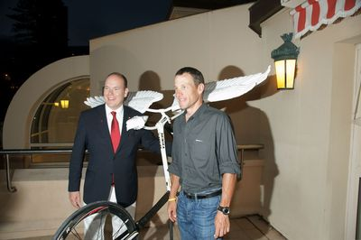 Monaco Eco Art Parade et Lance Armstrong lancent le Tour de France