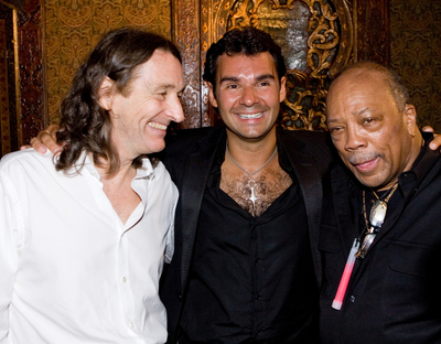 Roger Hodgson, Antoine Chevanne (CEO du Groupe Floirat), Quincy Jones