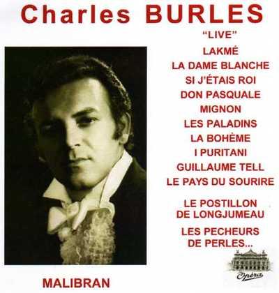 NOUVEAUTE DISCOGRAPHIQUE: CHARLES BURLES