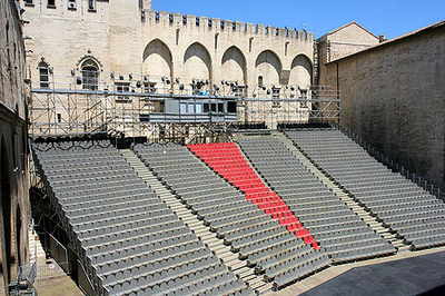 La cour d'honneur du Palais des Papes à Avignon