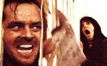 """Affiche partielle du film """"Shining"""", de Stanley Kubrick, 1980."""