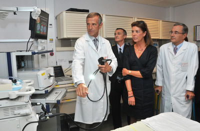 Inauguration du nouvel appareil endoscopique par S.A.R. la Princesse de Hanovre  (c) Charles Franch / Palais Princier