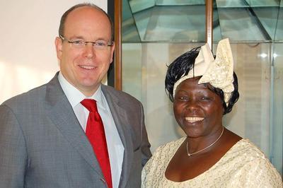 S.A.S. le Prince et Mme Wangari MAATHA. Photo (c) Palais Princier