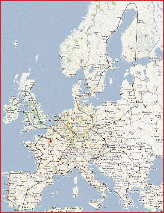 TOUR D'EUROPE EN COURANT