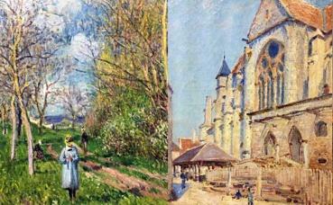 Alfred Sisley, peintures. Photos (c) Charlotte Service-Longépé