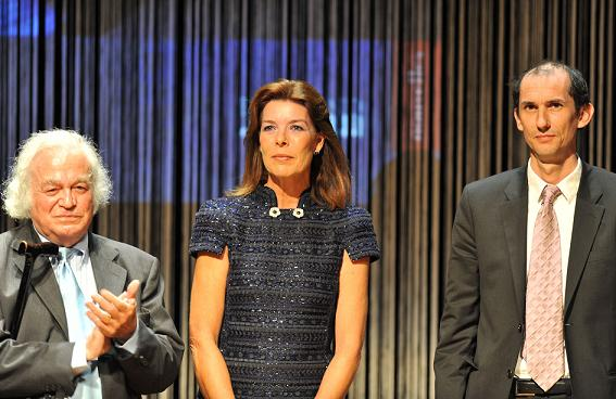 SAR La Princesse Caroline avec Pierre Mertens et David Thomas. Photo (c) Charly Gallo / CDP