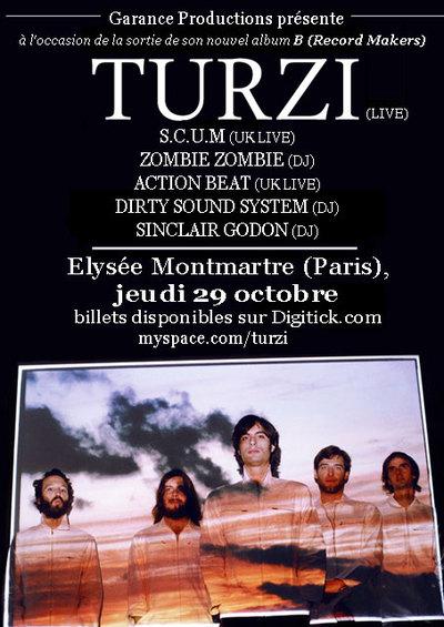 Turzi et ses invités à l'Elysée Montmartre pour une nuit à forts décibels