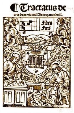 TRACTATUS DE ARTE BENE VIUENDI BENEQ MORIENDI - Guy Marchant, 1493