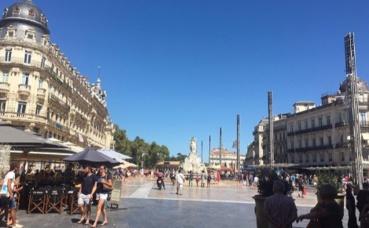La place de la Comédie à Montpellier. Photo prise par ML Lolambo