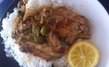 Poulet yassa. Photo prise par ML Lolambo