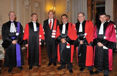 SAS le Prince Albert II de Monaco s'est vu remettre le titre de docteur honoris causa de l'Université de Nice Sophia Antipolis. Photo (c) Palais Princier
