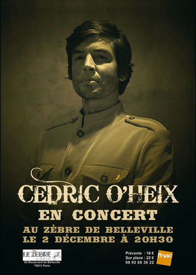 Cédric O'Heix de la Nouvelle Star en concert au Zèbre de Belleville