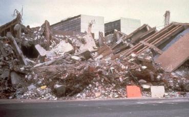 Photo d'archive d'un séisme précédent à Mexico. Image du domaine public