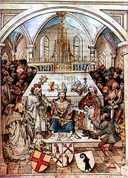 Inauguration de l'Université de Bâle en 1460. Source: wikipedia