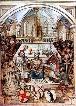 Inauguration de l'Université de Bâle en 1460. Source: wikipedia