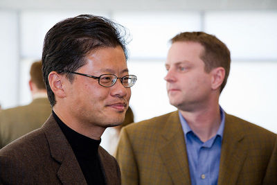 Jerry Yang and David Filo, les fondateurs de Yahoo! Photo: Mitchell Aidelbaum