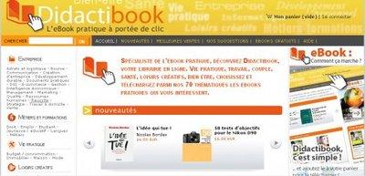 Didactibook : une e-librairie 100 % e-books pratiques