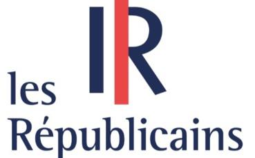 Logo du parti politique Les Républicains. Image libre de droits