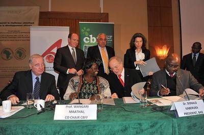 Signature de l'accord de partenariat avec le 'Fonds pour le Bassin Forestier au Congo'. Photo (c) Gaëtan Luci / Palais Princier