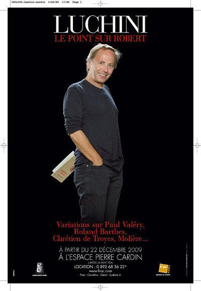 Fabrice Luchini dernières représentations pour Le Point sur Robert