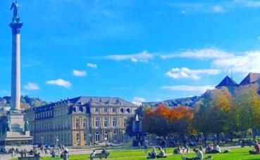 Neue Schloss Stuttgart. Photo prise par Sarah Barreiros.