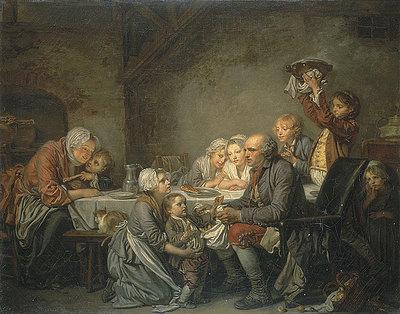 Le gateau des Rois, 1774, par Jean-Baptiste Greuze (1725–1805). Source: Wikipedia