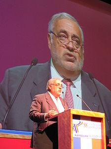 Philippe Séguin, président de la Cour des Comptes, au 88ème Congrès des Maires de France en 2005. Photo (c) Olivier Sourd