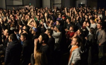Le public était au rendez-vous lors du festival Demain c'est bien. Photo prise par l'auteur.
