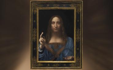"""""""Salvator Mundi"""", un Christ de Léonard de Vinci vendu aux enchères pour 450 millions de dollars. Image du domaine public."""