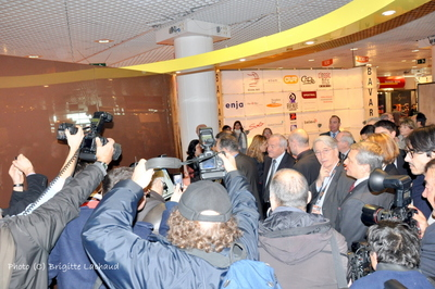 FREDERIC MITTERAND INAUGURE LE MIDEM A CANNES