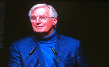 Michel Barnier au SSF. Photo prise par l'auteur.