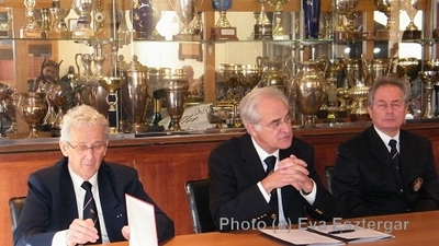 Henri Doria, Gilbert Vivaldi et Jean-Louis Antognelli lors de la conférence de presse. photo (c) Eva Esztergar