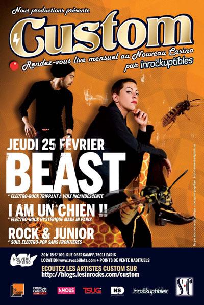 Beast en concert au Nouveau Casino