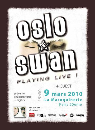Oslo Swan en concert à la Maroquinerie