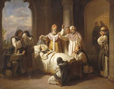 La mort de Marguerite de Hongrie de József Molnár,1821-1899
