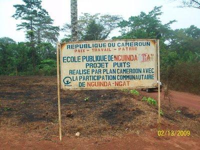 De Bafia à Nguinda le bilinguisme se traduit au premier coup d'oeil du visiteur sur les panneaux de nos écoles(photo ETOAA  Joseph)