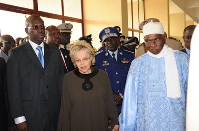 Le Président Wade accompagné du Premier ministre et de son épouse